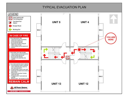 Typical Fire Evacuation Plan
