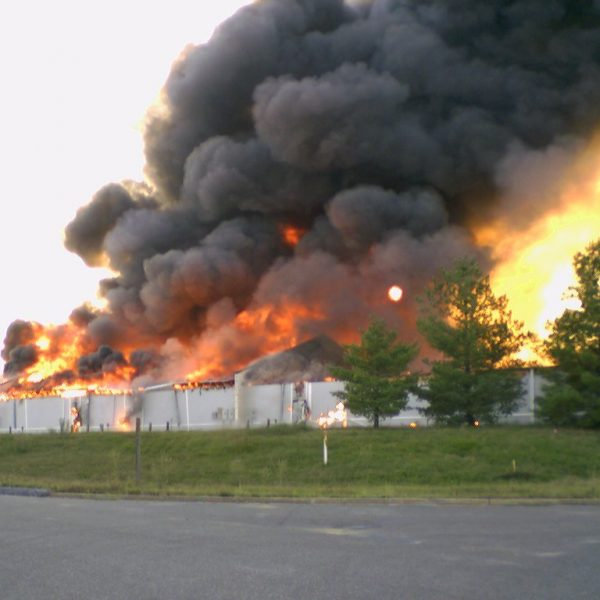 commercial building fire